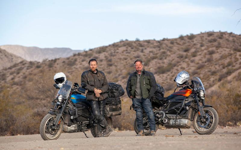 Long Way Up is the third of Ewan McGregor and Charley Boorman's long-distance travel-doc odysseys by motorbike - Apple TV+