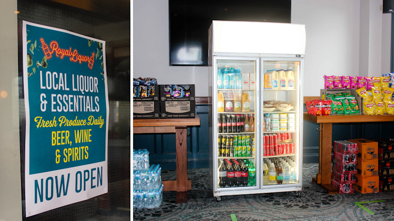 Inside the Royal Leichhardt, which has been converted into a convenience store. Source: Supplied