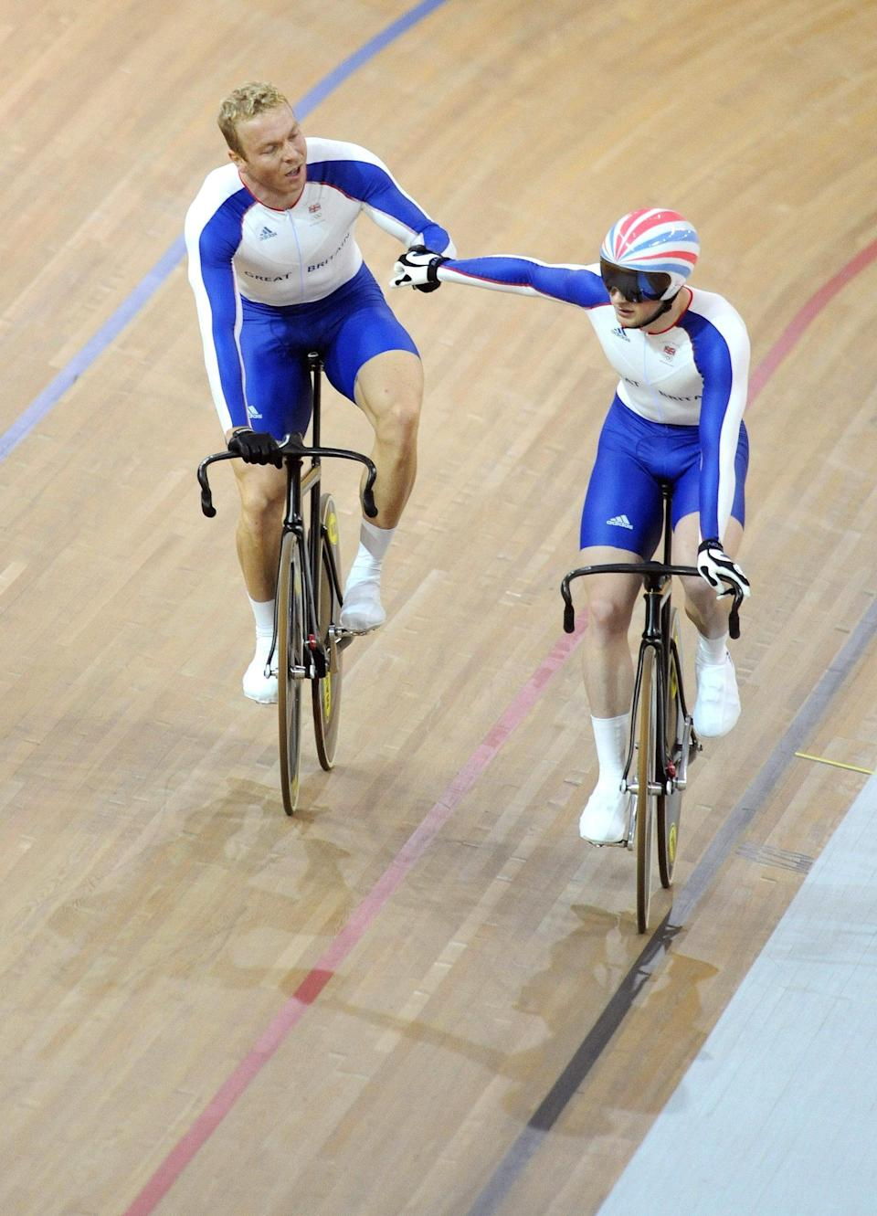 Sir Chris Hoy, left, and Jason Kenny were team-mates at Beijing 2008 (John Giles/PA) (PA Archive)