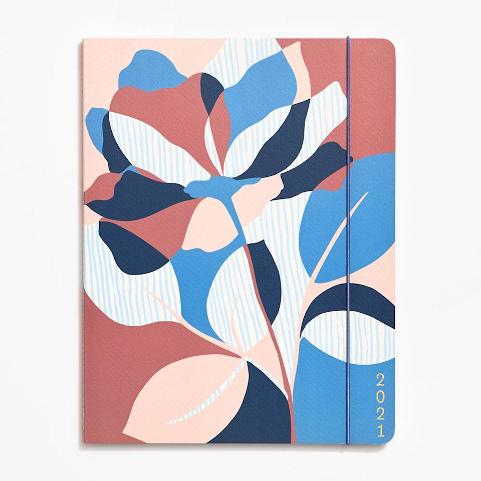 """<h3><a href=""""https://fave.co/3mdZoF0"""" rel=""""nofollow noopener"""" target=""""_blank"""" data-ylk=""""slk:Paper Source 2021 Jumbo Booklet Planner"""" class=""""link rapid-noclick-resp"""">Paper Source 2021 Jumbo Booklet Planner</a></h3><br><strong>Deal: 25% off <a href=""""https://www.papersource.com/desk/organize"""" rel=""""nofollow noopener"""" target=""""_blank"""" data-ylk=""""slk:planners and calendars"""" class=""""link rapid-noclick-resp"""">planners and calendars</a></strong><br><br>The abstract floral motif on this planner is so pretty, it almost looks like art — while still packing enough page power to handle your daily to monthly and yearly to-dos. (Bonus planning points for the extra-large size that leaves room for journalling.)<br><br><strong>Paper Source</strong> 2021 Abstract Floral Jumbo Booklet Planner, $, available at <a href=""""https://go.skimresources.com/?id=30283X879131&url=https%3A%2F%2Ffave.co%2F3mdZoF0"""" rel=""""nofollow noopener"""" target=""""_blank"""" data-ylk=""""slk:Paper Source"""" class=""""link rapid-noclick-resp"""">Paper Source</a>"""