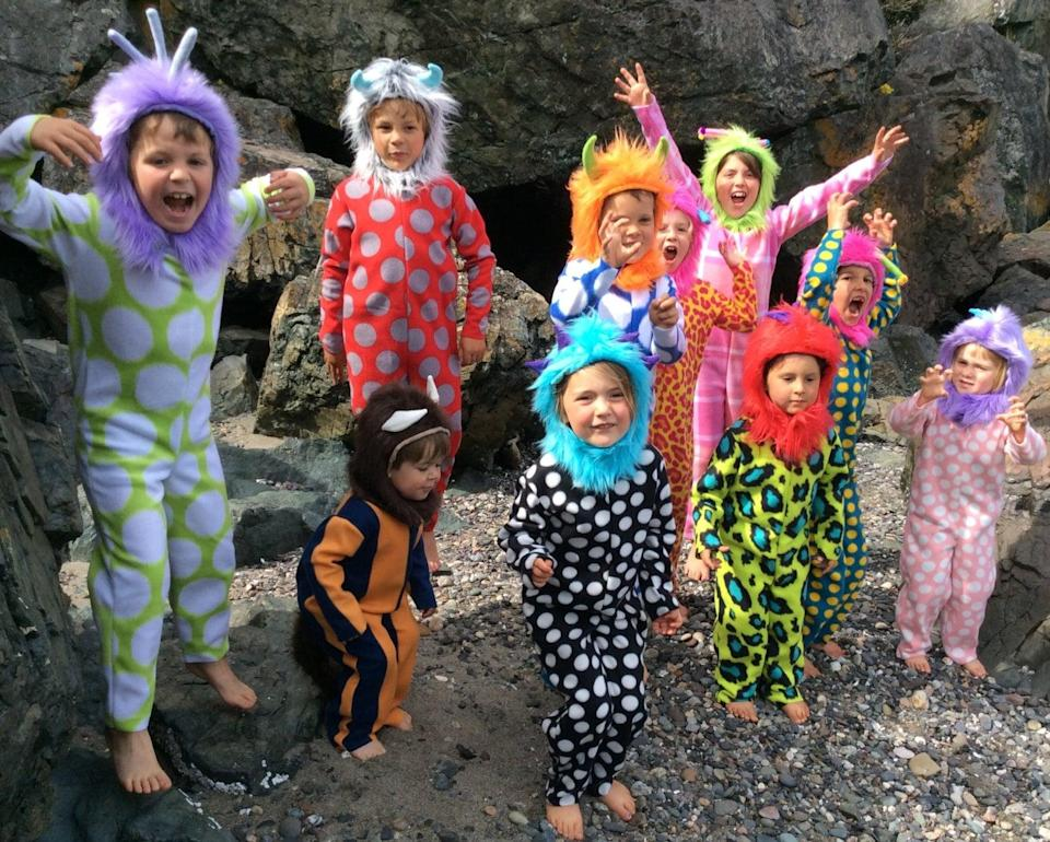 <p><span>Monster costumes</span> ($62 each) are the easier way to get everyone in your brood involved in a group costume - each kiddo can choose a monster with their own unique flair.</p>