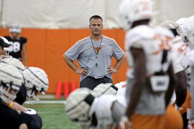 Texas Longhorns defensive coordinator Todd Orlando watches practice Wednesday Sept. 4, 2019 in Austin, Tx. ( Photo by Edward A. Ornelas )