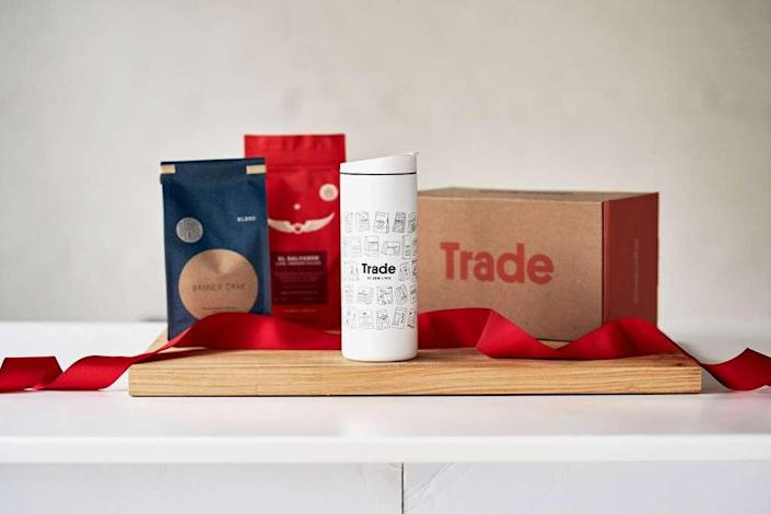 Trade Coffee offers a range of packaged gifts and subscriptions for coffee lovers.