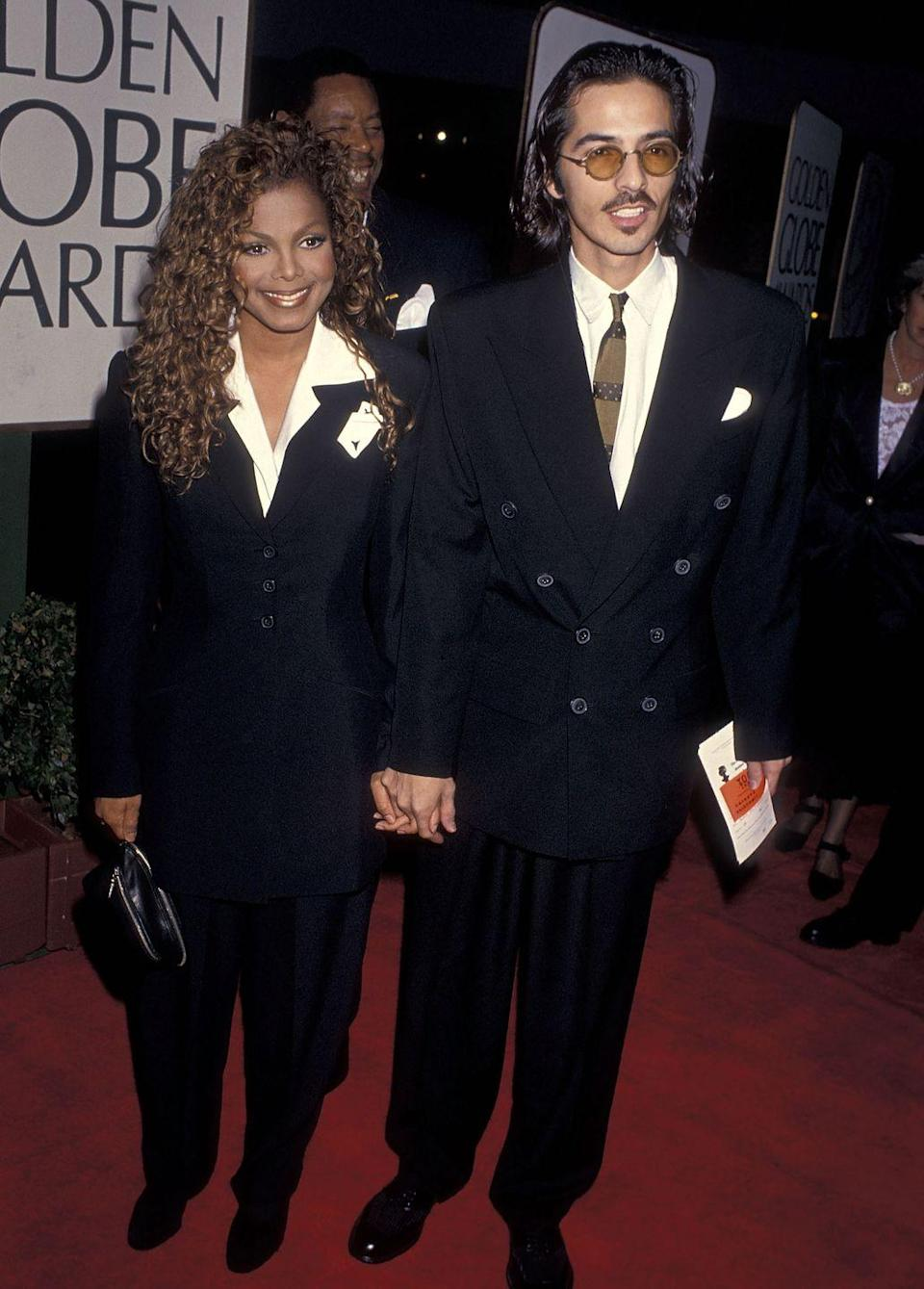 """<p>The marriage between Janet and songwriter/director René might have been kept secret for its eight-year duration, but it ended with a messy public divorce battle. After the pair, who got married in 1991, separated in 1999, <a href=""""https://www.rollingstone.com/music/music-news/secret-hubby-divorces-janet-jackson-205155/"""" rel=""""nofollow noopener"""" target=""""_blank"""" data-ylk=""""slk:René sued Janet"""" class=""""link rapid-noclick-resp"""">René sued Janet</a> for $10 million. He claimed their marriage was manipulative and one-sided and that she had used his mental disorder to get him to sign an unfair prenup. However, <a href=""""https://www.telegraph.co.uk/news/worldnews/northamerica/usa/1381141/Jackson-exploited-her-secret-husband.html"""" rel=""""nofollow noopener"""" target=""""_blank"""" data-ylk=""""slk:Janet said"""" class=""""link rapid-noclick-resp"""">Janet said</a> their marriage ended because of René's addiction to prescription drugs. For what it's worth, René won the case.</p>"""