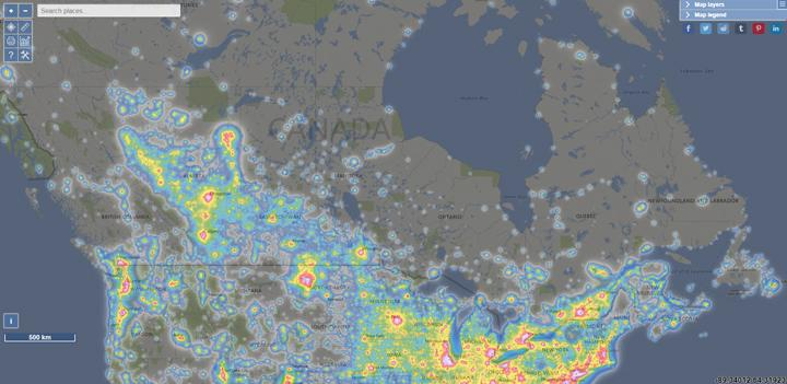 Light-Pollution-Map-Canada