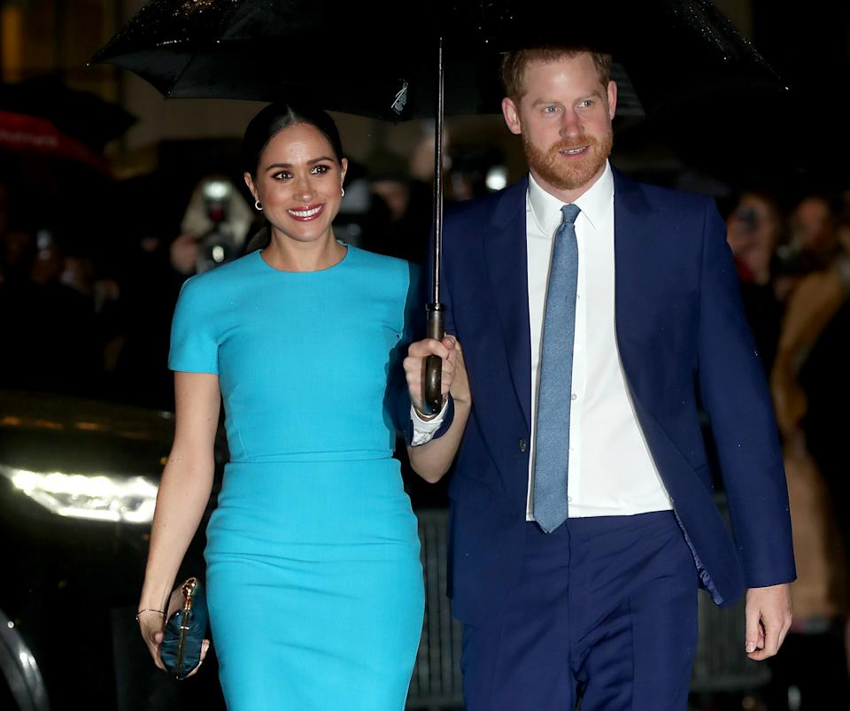 Prince Harry, Duke of Sussex and Meghan, Duchess of Sussex attend The Endeavour Fund Awards at Mansion House on March 05, 2020 in London, England