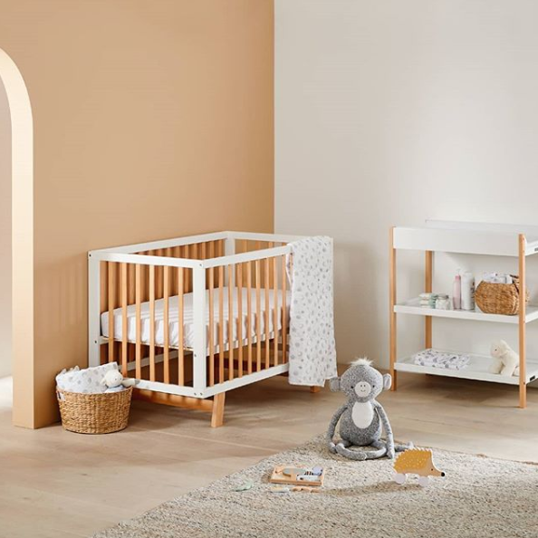 Childcare Osmo Cot, $299. Photo: Target.
