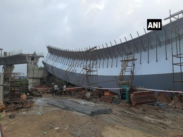 Visuals of the collapsed flyover in Mumbai (Photo/ANI)