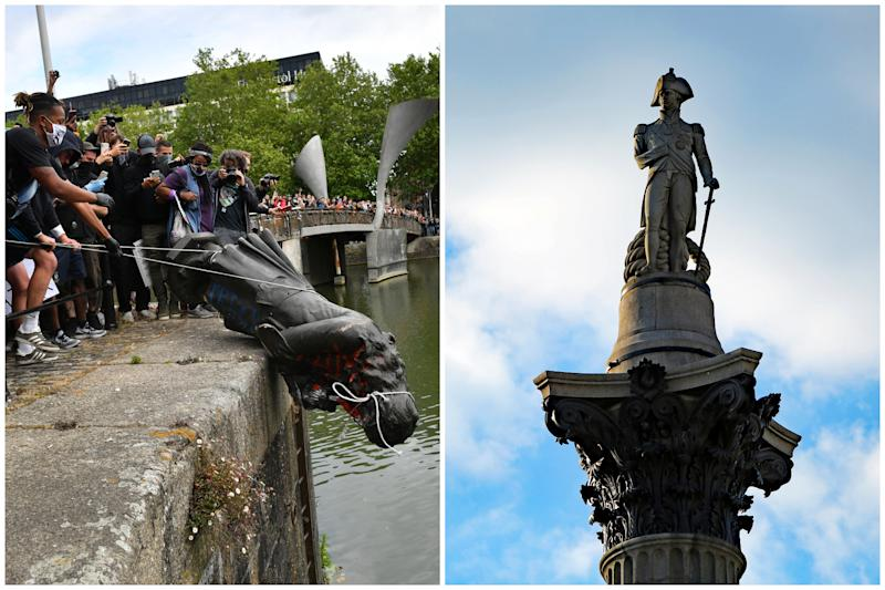 Activists have called for statues including Nelson's Column to come down after activists toppled slave trader Edward Colston. (PA Images)