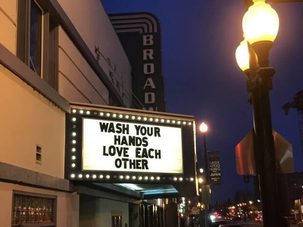 The Broadway Theatre in Saskatoon will continue to require patrons to wear masks for now. (Guy Quenneville/CBC - image credit)