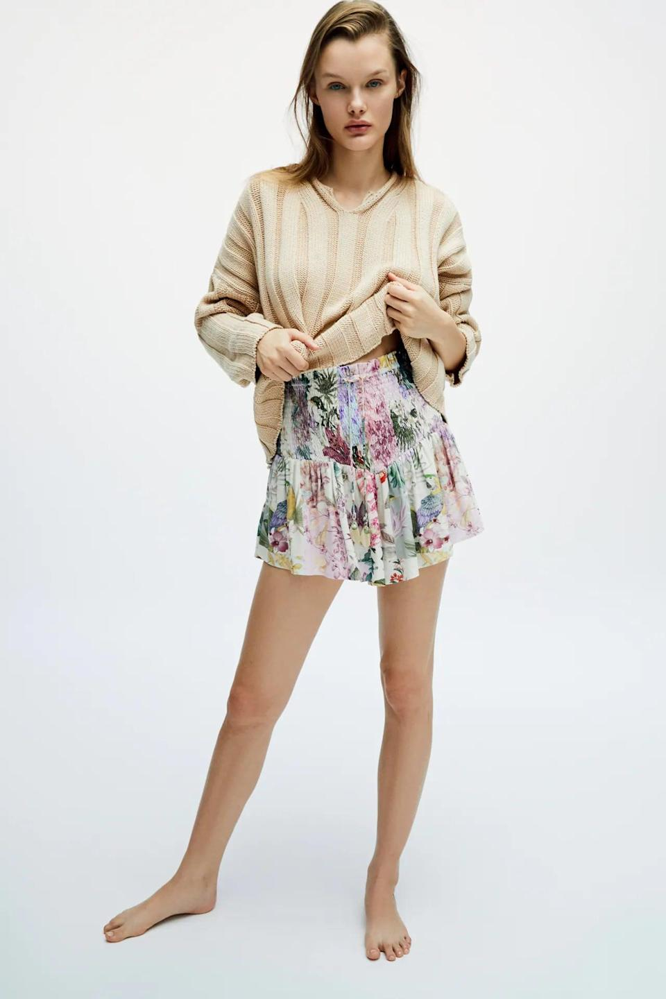 <p>We love the print and the flowy silhouette of these <span>Zara Printed Shorts</span> ($50).</p>