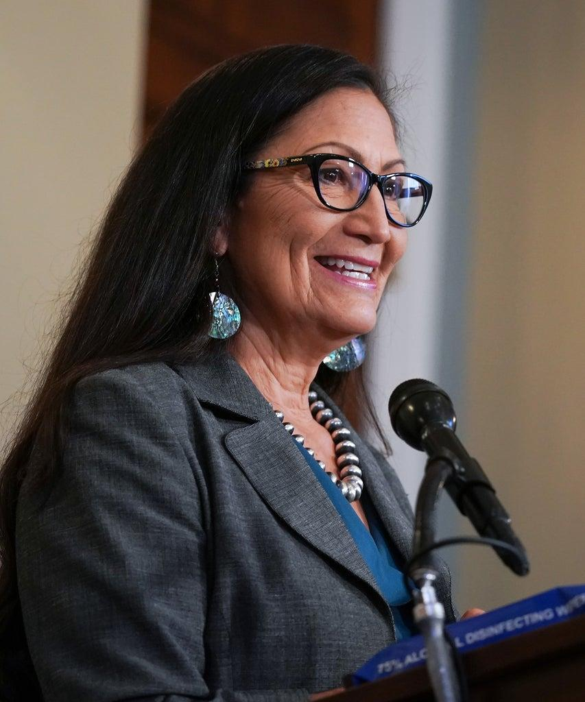 WASHINGTON, DC – SEPTEMBER 10: Representative Deb Haaland (D-NM) at the Back the Thrive Agenda press conference at the Longworth Office Building on September 10, 2020 in Washington, DC. (Photo by Jemal Countess/Getty Images for Green New Deal Network)