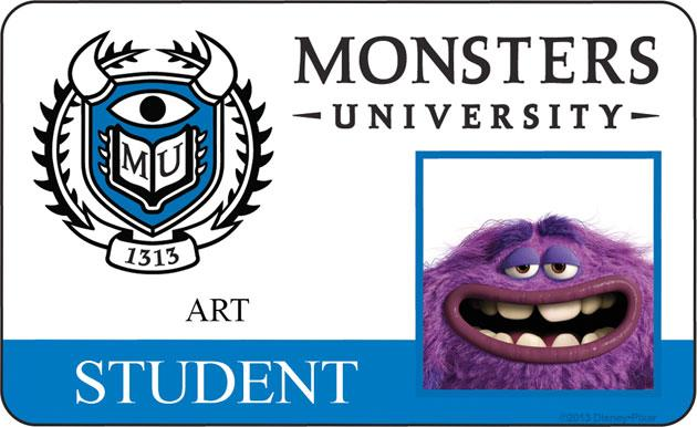 ART (voice of Charlie Day) The ultimate free spirit, Art is a mysterious monster with a questionable background. By far the strangest member of the Oozma Kappas, Art bowls over the competition—sometimes literally—with his unique dexterity and wild-card ways. Nothing is scarier than the unpredictable, especially when it comes to this furry ball of bad.