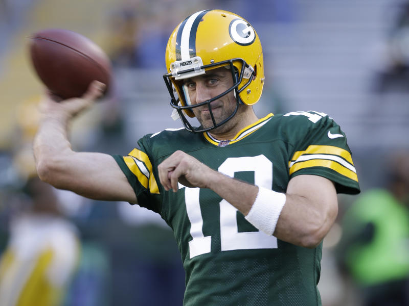 Aaron Rodgers and the Packers have a tough Week 1 test against the Seahawks. (AP)