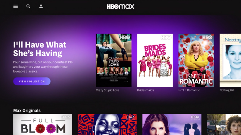 HBO Max UI