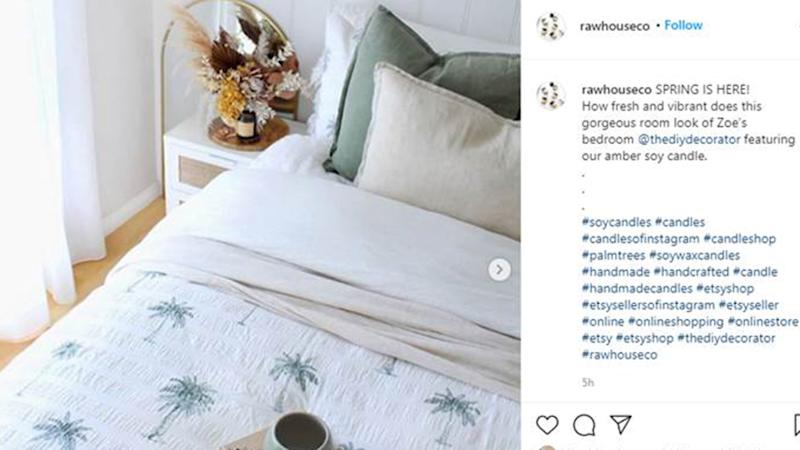 instagram post of big w quilt cover