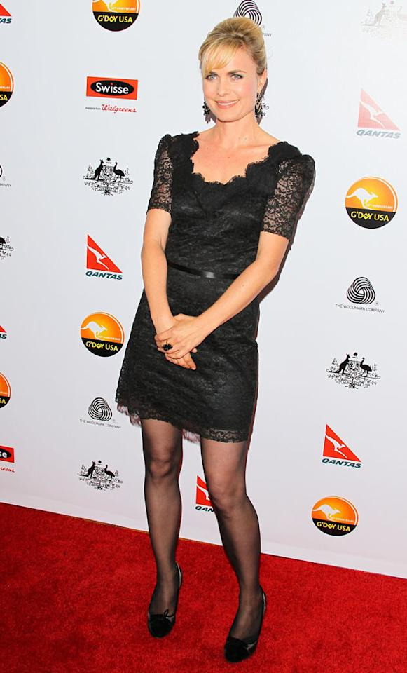 Radha Mitchell attends the 2013 G'Day USA Black Tie Gala at JW Marriott Los Angeles at L.A. LIVE on January 12, 2013 in Los Angeles, California.