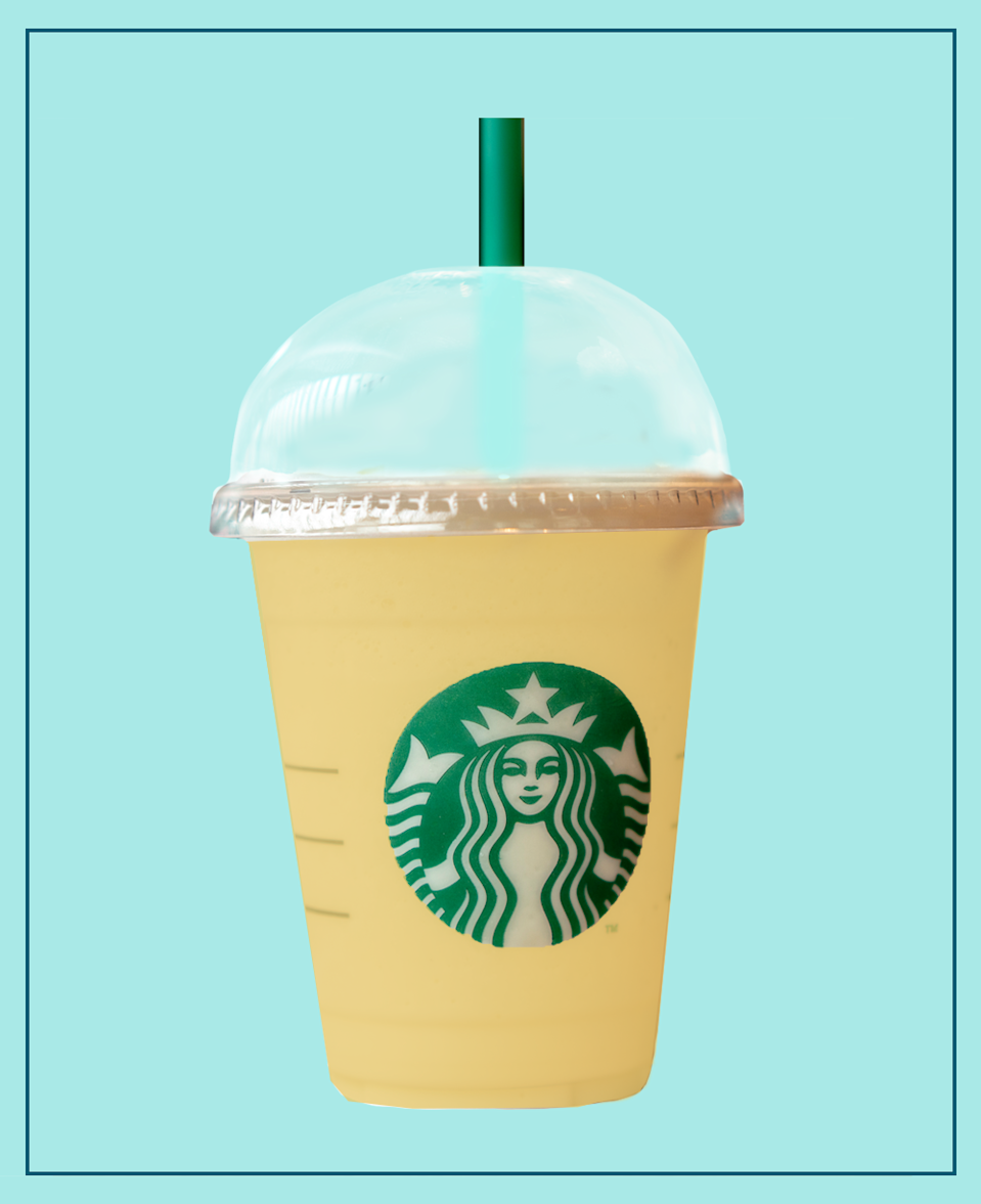 <p>Yes, Pina Colada! You can totally get this (but in a non-alcoholic form, obvs) from Starbucks, and it's drop dead gorgeous.</p><p>It tastes like a creamy, smoothie-like Pina Colada. </p><p><strong>What should I ask for? </strong>Pineapple & Mango Purée blended, with Coconut Milk and a Cream Base.</p>