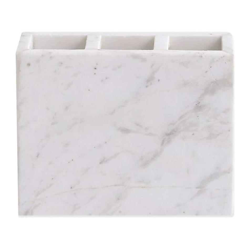 <p>When it comes to bathroom decor, you can't go wrong with marble. The <span>Camarillo Marble Toothbrush Holder</span> ($20) is a great choice for storing non-electric toothbrushes.</p>
