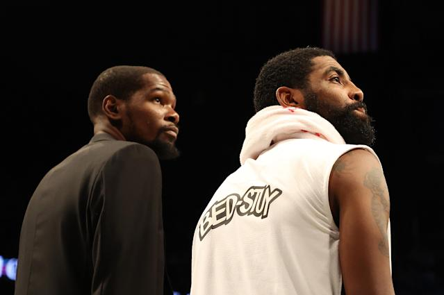 It's going to be different when Kevin Durant and Kyrie Irving play for the Nets next season. (Photo by Al Bello/Getty Images)