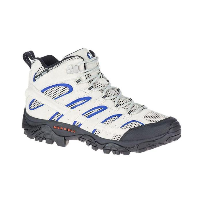 """<p><strong>Details</strong></p><p>merrell.com</p><p><strong>$110.00</strong></p><p><a href=""""https://go.redirectingat.com?id=74968X1596630&url=https%3A%2F%2Fwww.merrell.com%2FUS%2Fen%2Fmoab-2-mid-ventilator%2F45400M.html%3Fdwvar_45400M_color%3DJ5002359%23cgid%3Doutdoor-voices-moab-collection%26start%3D1&sref=https%3A%2F%2Fwww.menshealth.com%2Ftechnology-gear%2Fg19521968%2Fcool-gifts-for-dad%2F"""" rel=""""nofollow noopener"""" target=""""_blank"""" data-ylk=""""slk:BUY IT HERE"""" class=""""link rapid-noclick-resp"""">BUY IT HERE</a></p><p> For any dad in need of an adventure in nature, this gift will encourage him to hit the trail. </p>"""