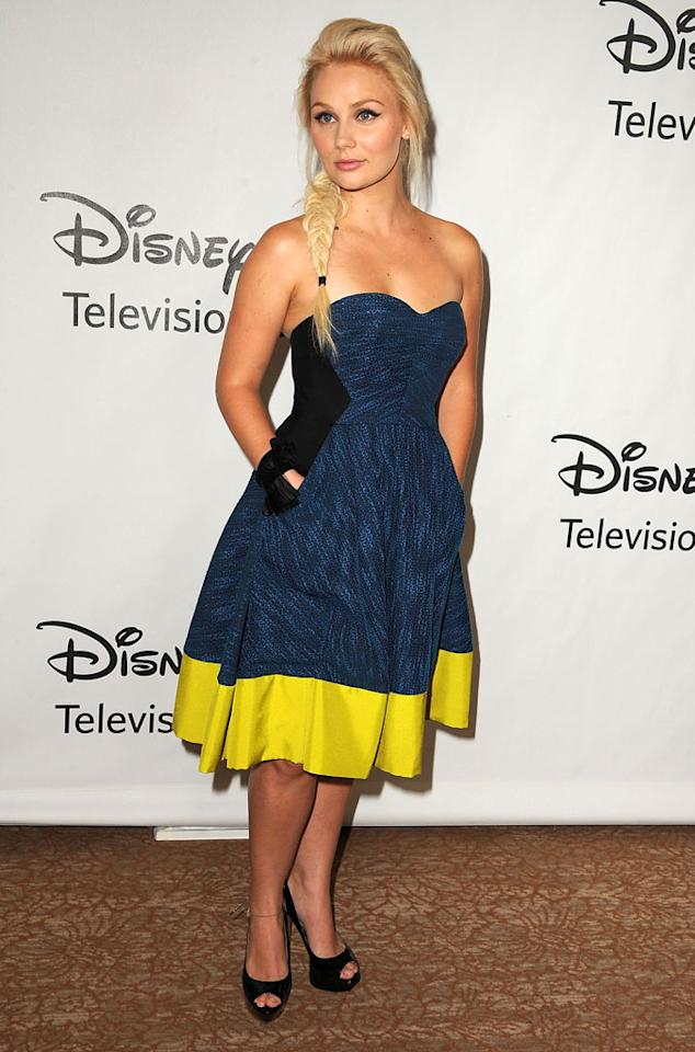"Clare Bowen (""Nashville"") arrives at  the Disney/ABC Television Group Summer 2012 Press Tour Party at The  Beverly Hilton Hotel on July 27, 2012 in Beverly Hills, California."