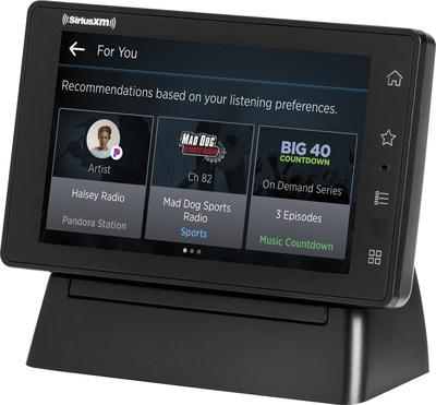 "Using SiriusXM with 360L functionality, SiriusXM Tour delivers personalized ""For You"" recommendations based on listening history and preferences"
