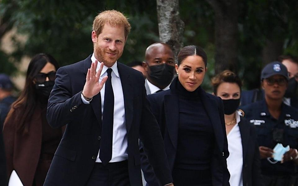 Prince Harry and Meghan Markle visit the One World Observatory - Anadolu