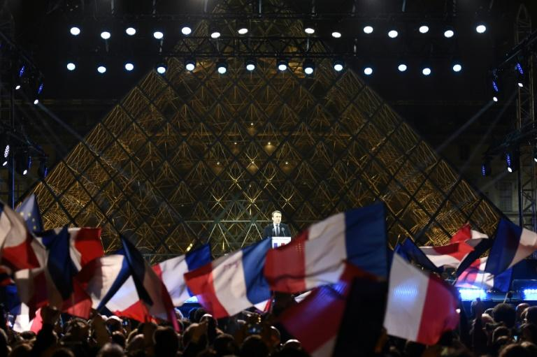 Projections show Macron elected French President