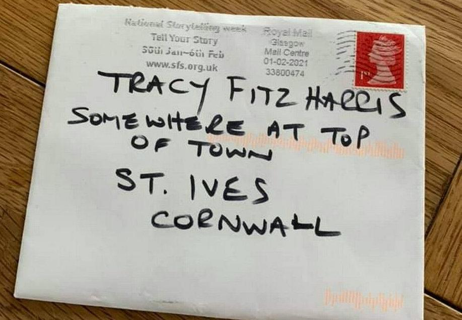 The envelope was shared online by the recipient. (SWNS)