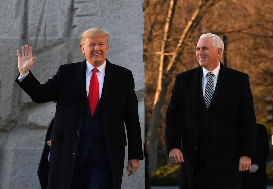 In the unlikely event the Senate voted to impeach the president, he would be replaced by Mike Pence: Getty