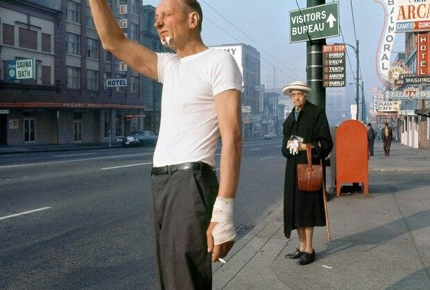 Fred Herzog, Man with Bandage, 1968, Archival pigment print, Courtesy of Equinox Gallery.