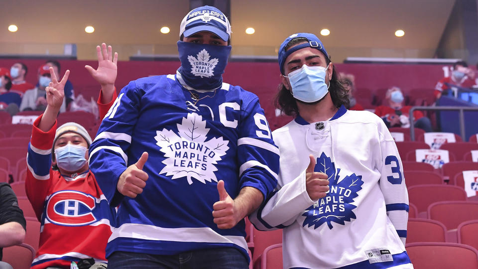 Fans will be back in the building Monday night in Toronto for Game 7 between the Maple Leafs and Canadiens. (Photo by Minas Panagiotakis/Getty Images)