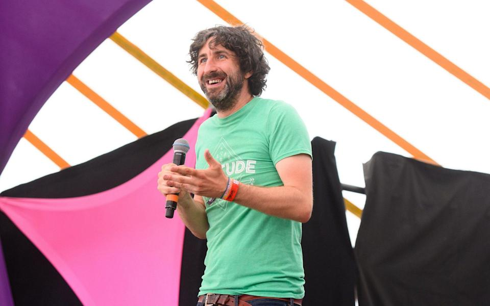 In two minds: Mark Watson performing on the second day of the Latitude festival in Henham Park, Southwold, Suffolk - Matt Crossick/Alamy