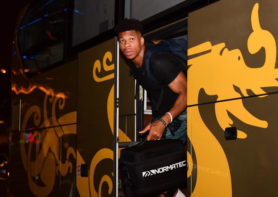 Reigning MVP Giannis Antetokounmpo arrives in China for the FIBA World Cup. (Getty Images)