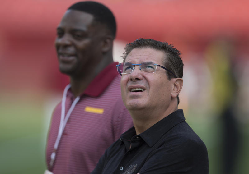 Washington owner Daniel Snyder looks away.