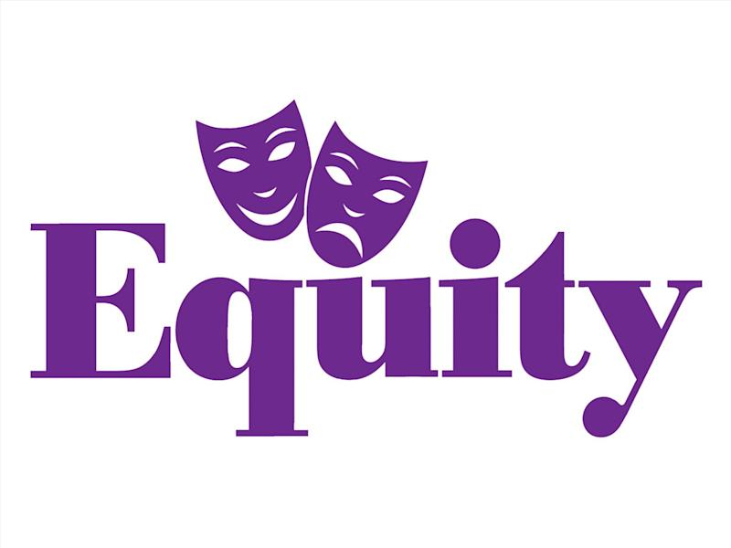 EQUITY logo, British actors union, graphic element on white