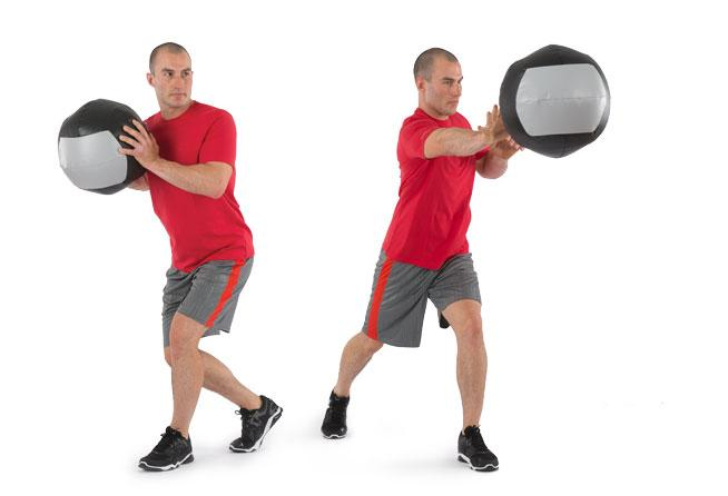 Med Ball Recoiled Shot Put