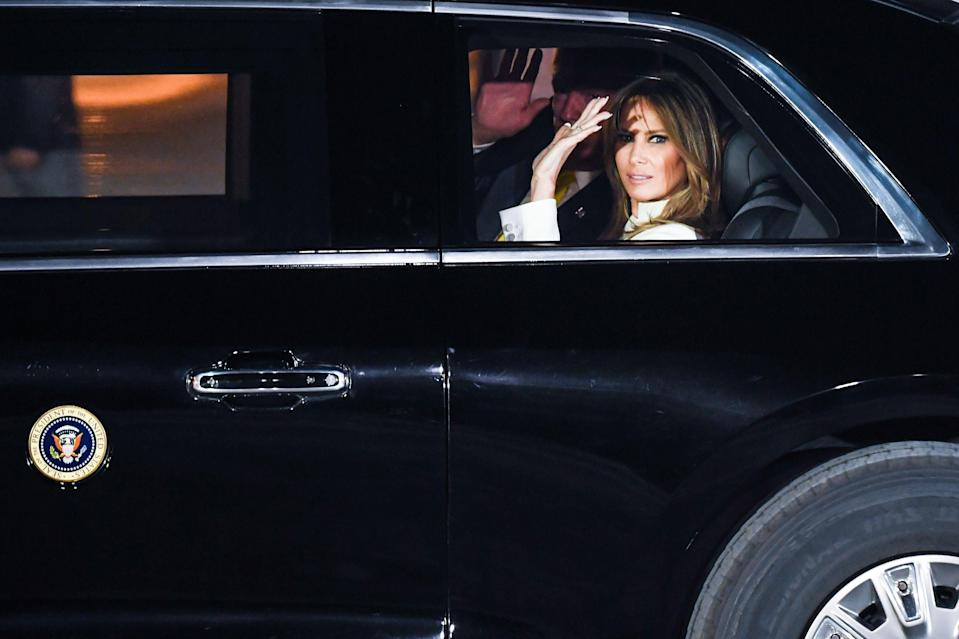 <p>Melania Trump was last seen on Tuesday, casting her vote in Florida</p> (AFP via Getty Images)
