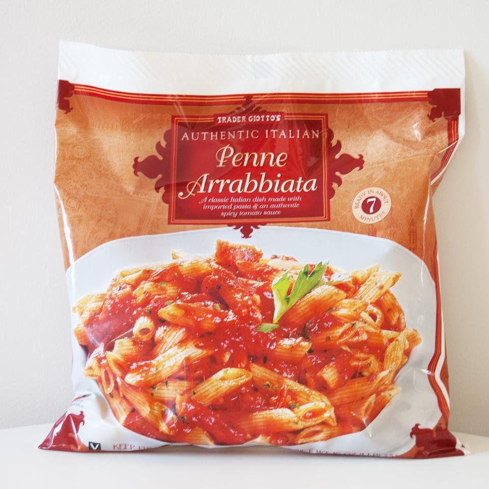 """<p>""""I eat the TJ's Penne Arrabiata at least once a week . . . it's so delish, and I add spinach and kale to it to make it a little healthier. It also doesn't have dairy (which I try to avoid)."""" - Meghan Tipton</p>"""