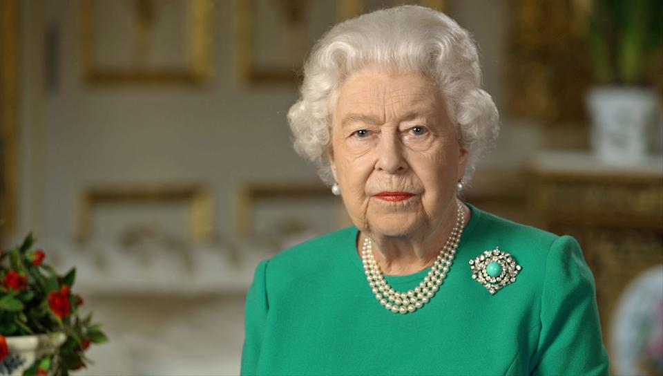 The Queen reacted with a brief statement to the interview. Seen here in April 2020. (PA Images)