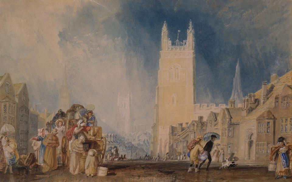A painting of Stamford in Lincolnshire