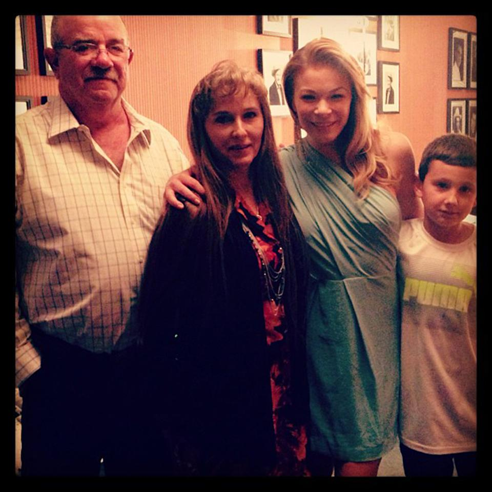 """Backstage at the #Opry with my family :) Dad, bonus mom and nephew.#instagramtakeover #omgleannrimes"""