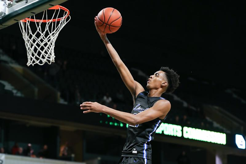 Emoni Bates has chosen his college, but the nation's top high school recruit may not ever make it there. (Photo by Scott W. Grau/Icon Sportswire via Getty Images)