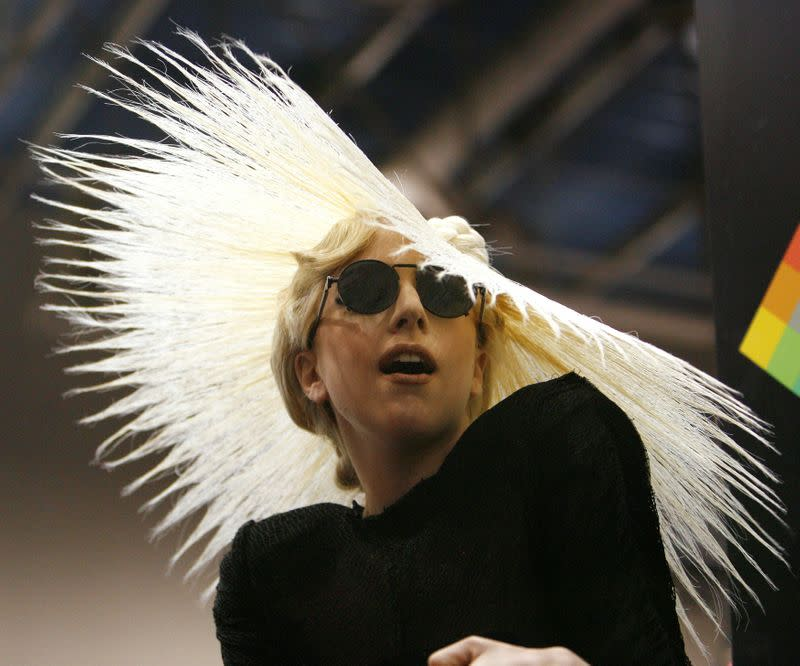 FILE PHOTO: Singer Lady Gaga attends a media event where she was announced as Polaroid creative director at the 2010 International Consumer Electronics Show (CES) in Las Vegas