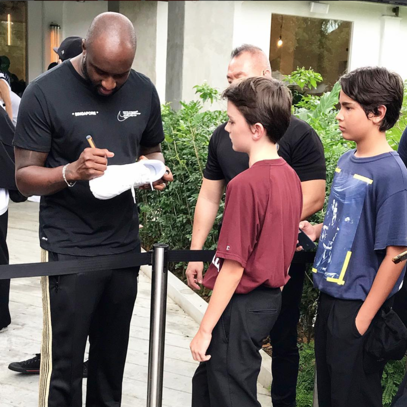 1e424f41 Virgil Abloh, owner of streetwear brand Off-White, in Singapore for Nike  collaboration