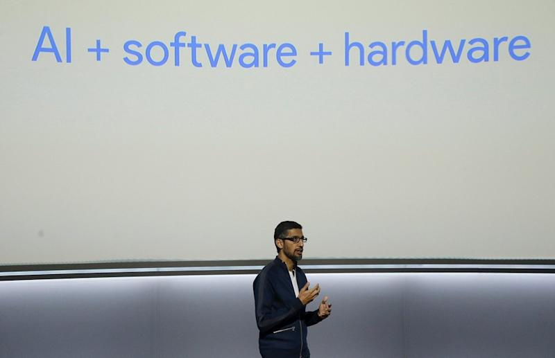 sundar pichai at pixel 2 hardware event