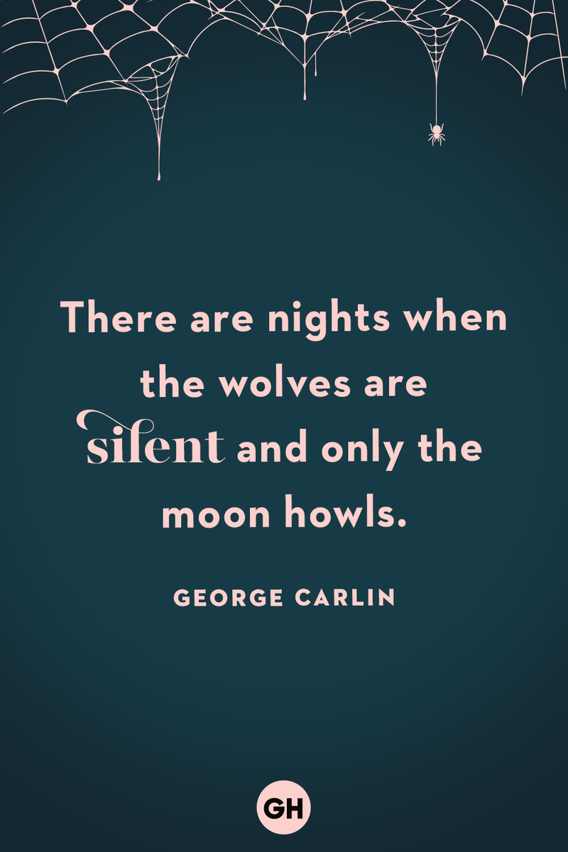 <p>There are nights when the wolves are silent and only the moon howls.</p>