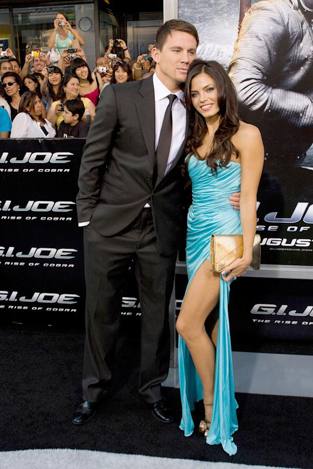 "<a href=""http://movies.yahoo.com/movie/contributor/1808597021"">Channing Tatum</a> and <a href=""http://movies.yahoo.com/movie/contributor/1809103126"">Jenna Dewan</a> at the Los Angeles premiere of <a href=""http://movies.yahoo.com/movie/1809993532/info"">G.I. Joe: The Rise of Cobra</a> - 08/06/2009"