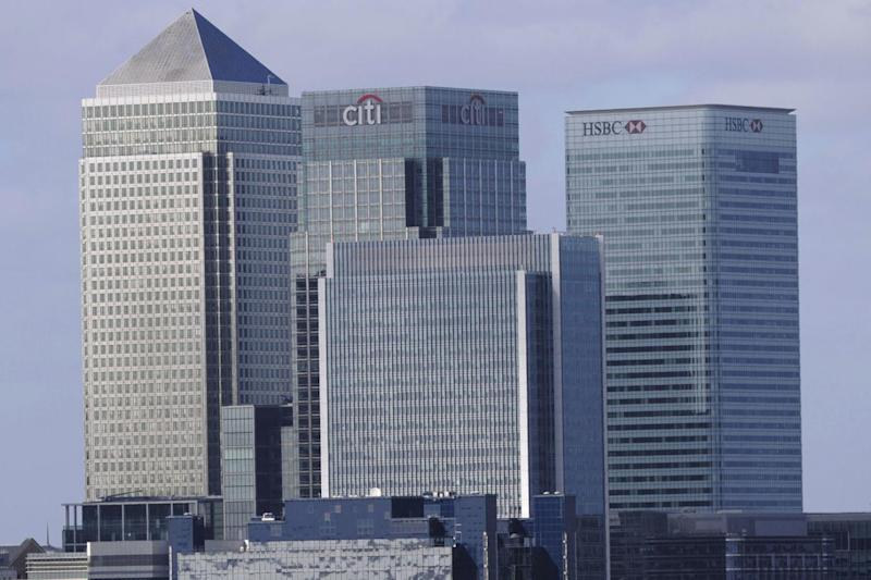 Canary Wharf: London's headquarters of British banks HSBC and Barclays (AFP/Getty Images)